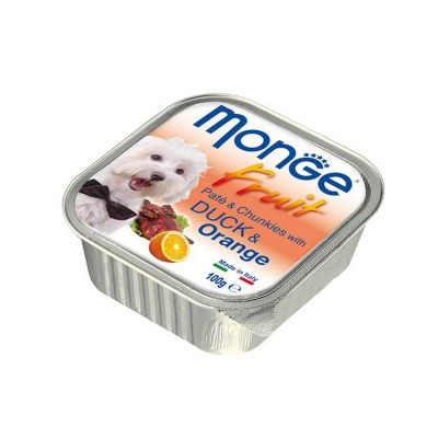 Monge Pate And Chunkies With Duck And Orange Wet Dog Food 100 Gm (Pack Of 2)