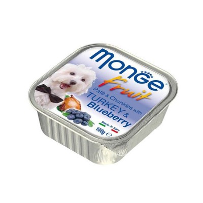 Monge Pate And Chunkies With Turkey And Blueberry Wet Dog Food 100 Gm (Pack of 2)