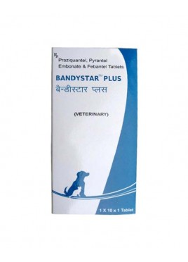Mankind Bandystar Plus Pyrantel Embonate and Febantel 10tab