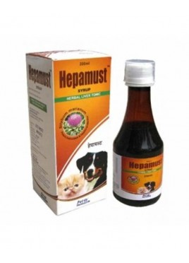 Mankind Hepamust Syrup Herbal Liver  Tonic for Dog and  Cat