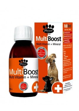 Mervue Multiboost Liquid Multi Vitamin + Mineral For Dogs 150 Ml