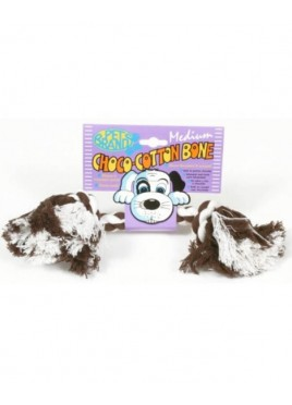 Pet Brands Choco Cotton bone Medium Dog Toy