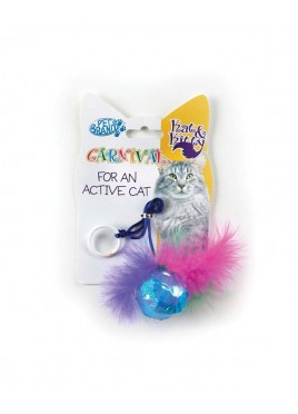 Pet Brands Carnival Cat Ball And Feather Toys