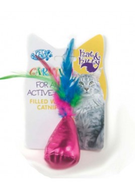 Pet Brands Carnival Cat Bag And Feather Toy