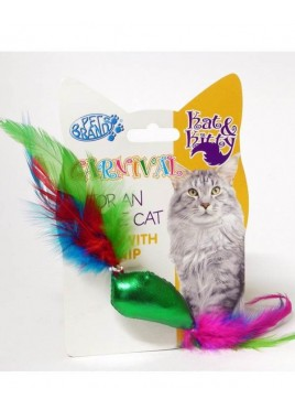 Pet Brands Carnival Cat Fish And Feather Toy
