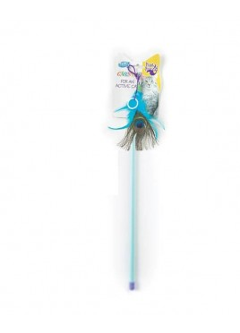 Pet Brands Carnival Cat Toy Feather Playing Rod