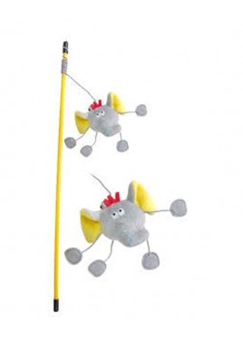 Pet Brands Elephant Wand Playing Road Toy For Cat