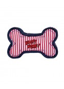 Pet Brands Denim Striped Bone Red Toy 16 Cm