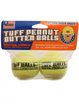 PetSport Jr.Tuff Peanut Butter Balls Dog Toy -2