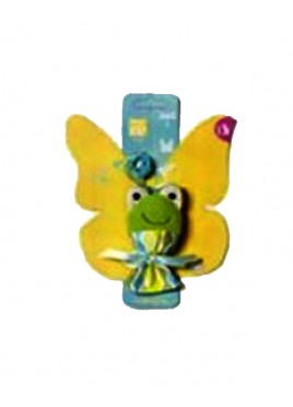 Pet Brands Frog On Elastic Toy