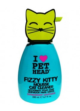 Pet Heads Mousse Cat Cleaner Fizzy Kitty Strawberry Shampoo 200ml