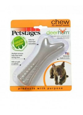 Petstages Deer Horn Chew Dog Toys X-Small 10cm