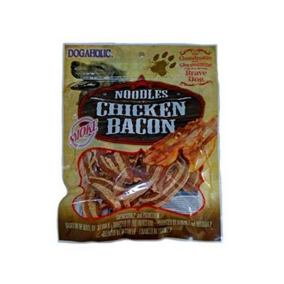 Rena Smoked Noodles Chicken Bacon Strips For Dog 130 Gm