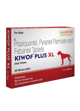 Sava Healthcare Kiwof Plus XL Dewormer for Large AND Xtra Large Dogs