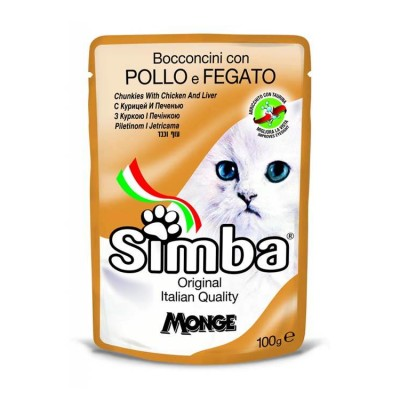 Simba Chunkies With Chicken And Liver For Cat Food 100 Gm (Pack-6)