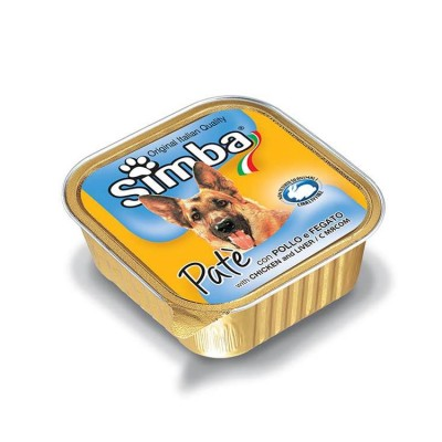 Simba Pate With Chicken And Liver Wet Dog Food 150 Gm (Pack Of 2)