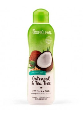 TropiClean Oatmeal and Tea Tree Dogs Shampoo 355 ml