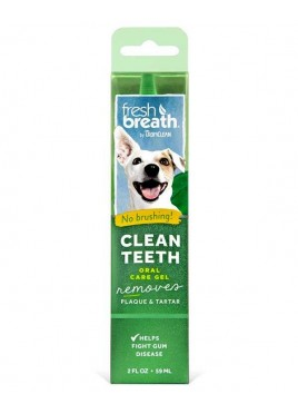 Tropiclean Fresh Breath Clean Teeth Dog Oral Care Gel 59 Ml