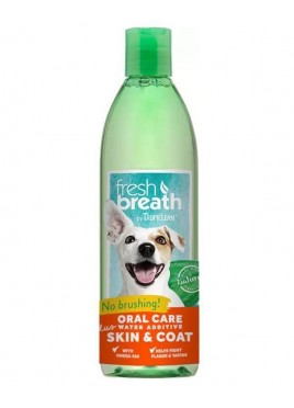 Tropiclean Fresh Breath Oral Care Water Additive Plus Skin & Coat Pets 473 Ml