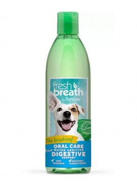 Tropiclean Fresh Breath Oral Care Water Additive Digestive Support For Pets 473 Ml