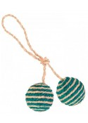 Trixie Sisal 2 Ball On A Rope Cat Toy