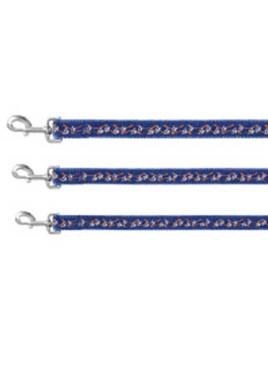 "Trixie Modern Art Collar Paws blue size 12""- 18""/15 mm"