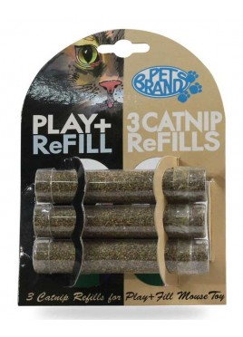 Pet Brands Play and Fill Refillable 3 Catnip Refills