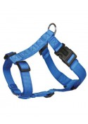 Trixie Classic H Harness Nylon Strap Fully Adjustable S  M Blue
