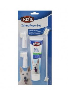 Trixie Dental Hygiene Set For Dog 100 gs