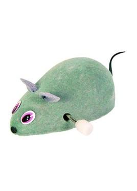 Trixie Plastic Wind Up Felt Mouse Cat Toy 7 cm