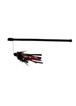 Trixie Playing Rod with Leather Cat Toy 50 cm