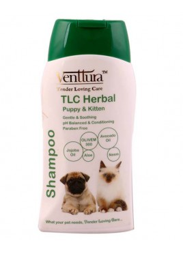 Venttura TLC Herbal Shampoo For Puppies and Kittens - 200 ml