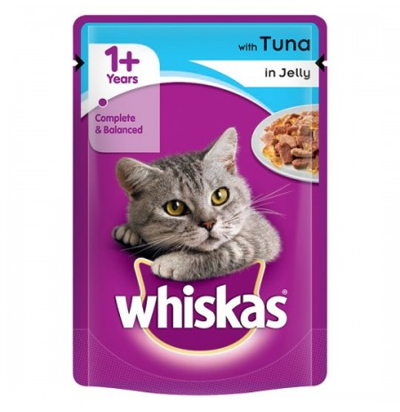 Whiskas Cat Food Tuna in Jelly 85 gm