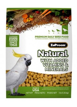 ZuPreem Natural Large Bird Food 1.36 Kg