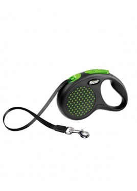 Flexi Design leash Dog Medium Or Large Tape 5m Green