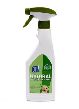 OUT! Natural Flea Or Tick Pets Spray 500 Ml
