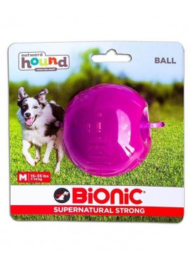 Outward Hound Bionic Opaque Ball Toy Medium, Purple