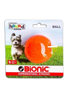 Outward Hound Bionic Opaque Ball Toy Small, Orange