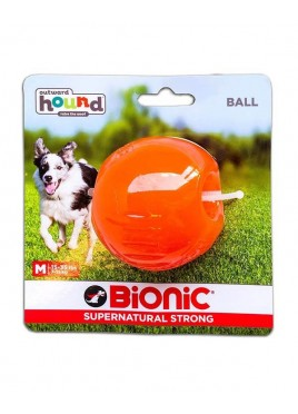 Outward Hound Bionic Opaque Ball Toy Medium, Orange