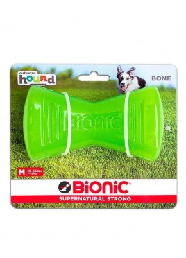Outward Hound Bionic Opaque Bone Toy Medium, Green