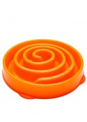 Outward Hound Fun Feeder Slow Feed Bowl Orange
