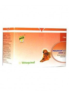 Vetoquinol Prazisham Plus Dewormer For Dog - 2 Tablets