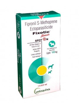 Vetoquinol Fixotic Advance Spot On Upto 10 kg 1X0.67ml