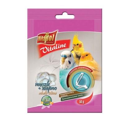 Vitapol Vitaline Shells Or Lime 50 Gm for Bird Supplement