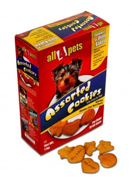 All4pets Assorted Cookies Treat Biscuits For Dogs 1kg