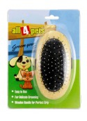 All4pets Dog Brush Handled Wooden Grooming Brush 1094Z-14