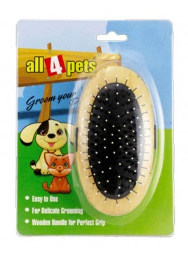 All4pets Dog Brush Handled Wooden Grooming Brush 1094Z 14