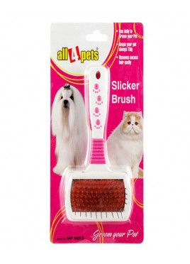 All4pets Dog Slicker Brush-Metallic pins