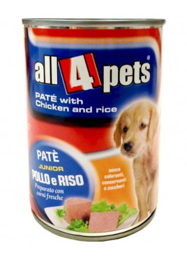 All4pets Dog Food Pate with Chicken And Rice 400 Gms