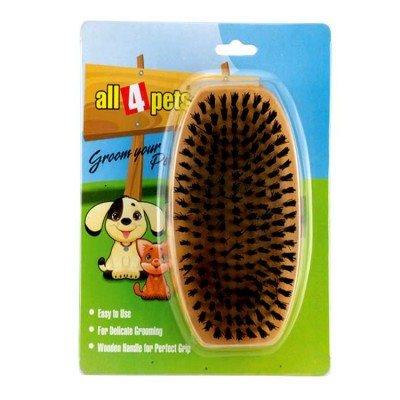 All4pets Handled wooden brush